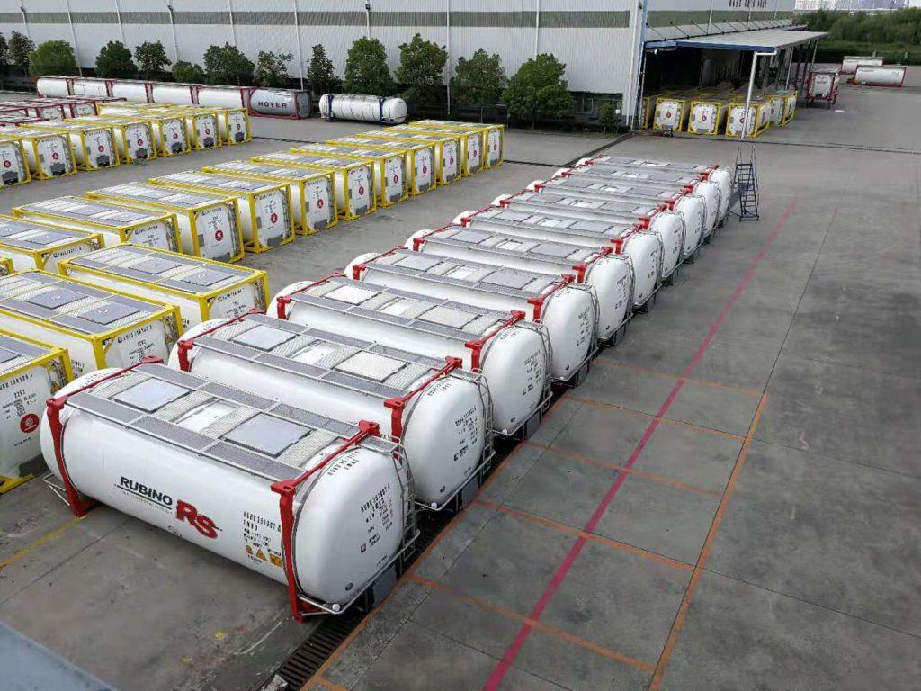 spedire vino all'estero con i tank container della Rubino RS